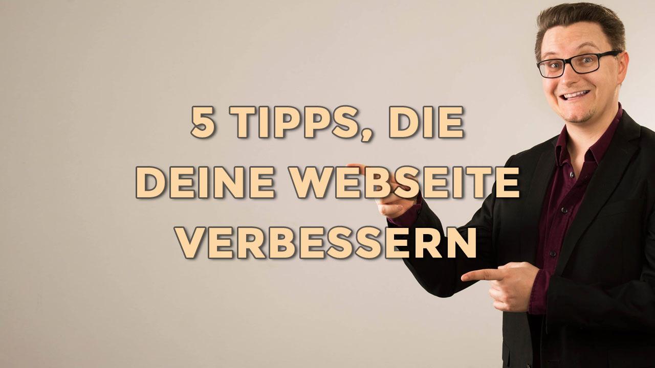 5 Tipps für eine bessere Webseite